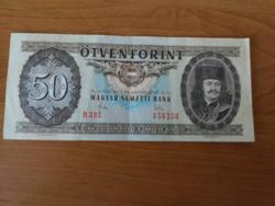 50 Forint 1983 - Régi, retró barna ötvenes bankjegy