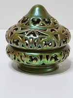 Zsolnay Eozin perzsa áttört bonbonier fedővel