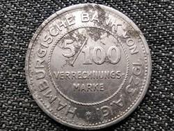 Németország Hamburg városállam 5/100 Verrechnungsmarke szükségpénz 1923 (id43839)