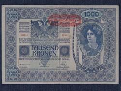 Ausztria 1000 Korona bankjegy 1902 felülbélyegzett (id30040)