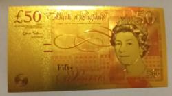 24 karátos aranyozott 50 font