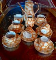 Régi lengyel Teás készlet, 6 személyes Chodziez    X