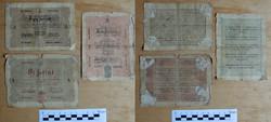 Kossuth bankó 1, 2  5 1848 forint ritkábbak de gyengébb tartásban 5 forint barna Debreceni Fix 7500.