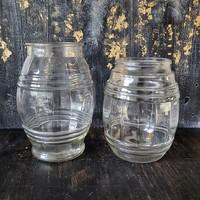 Régi Warhanek hordó alakú üveg, ruszlisüveg