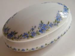 Limoges-i porcelán fedeles doboz, bonbonier