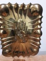 #77, bronz fal dekoráció, szüret, 40cm magas