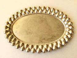 Régi vintage ovális fém tálca