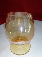 Színes üveg, likőrös pohár, magassága 8 cm.