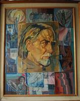 JÓZSA JÁNOS festőművész KODÁLY ZOLTÁN portréja