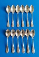 Ezüst barokk mokkás kanál 12 darab