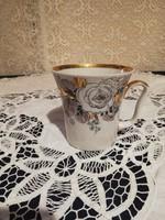 Eladó régi gyönyörű  porcelán orosz Lomonoszov aranyozott bögre!!
