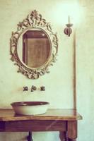 Antikolt barokkos tükör 52x36cm