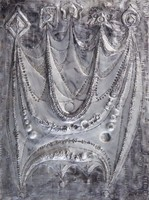 Kozma István - Tündérlányok 68 x 51 cm fémdomborítás