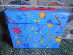 De Agostini festő színező rajzkészlet bőrönd koffer 32*26*7 cm