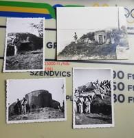 Katonák bunkerrel 1941 Talán Délvidék Bunker, folyó, sziget, katonák Érdekes Ritka kép!