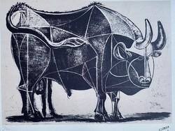 Picasso litográfia 70cm x 50cm eredetigazolással