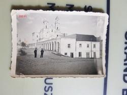 2 vh Német katonák templommal, házal városrészlet 6,5x9cm