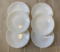 Arcopal, üveg kistányér, süteményestányér készlet