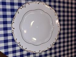 Zsolnay porcelán arany tollazott lapos tányér, vitrin állapotban 25 cm!!!