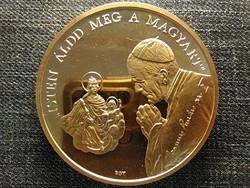 II. János Pál pápa látogatása Budapest Bognár György Lebó Ferenc aranyozott érem (id44882)