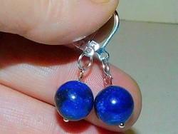 Lápisz Lazuli ásvány Gömb Fülbevaló