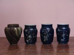 Fajansz vázák vagy petróleum lámpa bázisok
