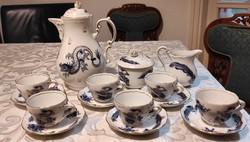 Sàrkànyos kàvés készlet luxus keleti Meissen stílusban , gyönyörű, ajàndéknak, dekoráció, hasznàlatr