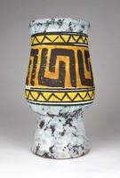 1D243 Retro jelzett mid century német Strehla iparművész kerámia váza 18 cm
