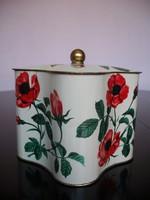 Beautiful old rose metal box, gift box