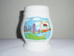 Német sörös korsó - California Golden Gate híd - American Wandering Club Augsburg 1987