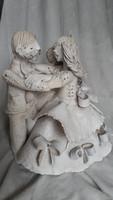 Gyönyörű eredeti Kovács Éva kerámia :táncoló pár