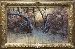 Nagyméretú téli tájkép Antalik
