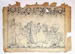 Batthyány Gyula (1887 - 1959) - Játék a színpadon grafika