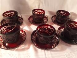 Kristály kávéskészlet vadi új!