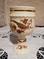 Eladó antik porcelán angol Palassy arany fácános kupa!