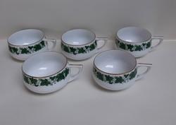 4226 - Mokkás csésze borostyán dekorral