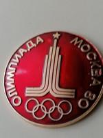 Moszkvai Olimpiade 1980,gyönyörű hibátlan tűzzománcos. Jelzett