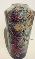 SCHEURICH folyatott mázas kerámia váza