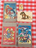 4 darab Régi puzzle - Disney - Kutya - Donal kacsa