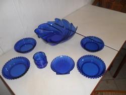 Kék üveg szett 7 db-os