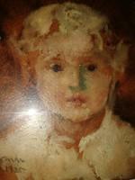 Herman Lipót - Miska fiú - 1925 - eredeti olajfestmény.