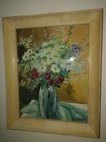 Duray Tibor - Virágcsendélet - eredeti festmény,1 forintról  teljeskörű garanciával.