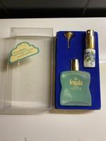 Vintage Fenjala kölni/parfüm teli üveg porcelán mini üveggel