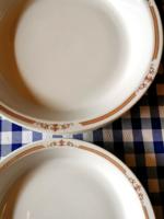 4 db Alföldi porcelán főzelékes, kocsonyás tányér mintás szélű