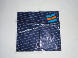 Retro Művelt Nép Könyvterjesztő Vállalat - könyves bolt reklámszatyor reklám nejlon szatyor zacskó