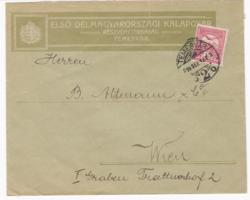 Első Délmagyarországi Kalapgyár cégjeles borítékja 1914-ből