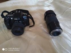 Nikon F 60 fényképezőgép+objektív