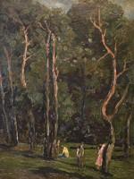 Perlmutter Izsák: Piknikezők az erdőben