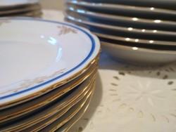 Kék arany porcelán Bohémia ünnepi étkészlet eladó