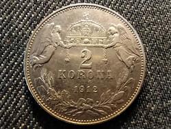 Ferenc József (1848-1916) .835 ezüst 2 Korona 1912 KB (id25544)